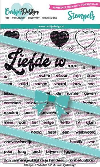 Carlijn Design Stempelset Liefde Is