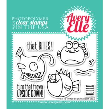 avery elle clear stamp set that bites