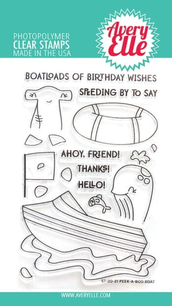 avery elle clear stamps stempelset st2021 peek a boo boat