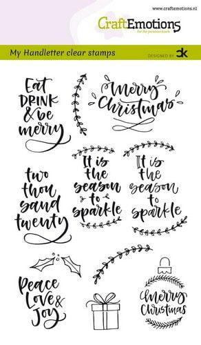craftemotions clearstamps a6 handletter christmas 2 eng ca 313485 nl g