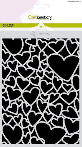 craftemotions mask stencil love puns harten a5 carla creaties 319191 nl g