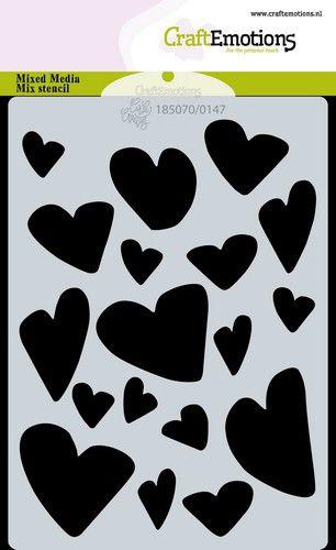 craftemotions mask stencil love puns harten a6 carla creaties 319190 nl g