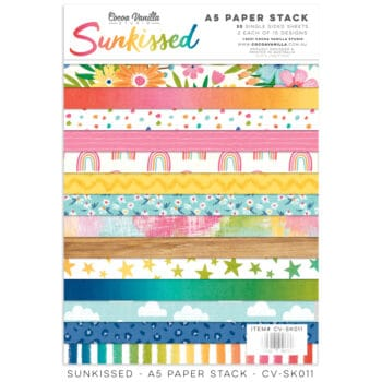 cv sk011 a5 paper stack cocoa vanilla studio sunkissed collection
