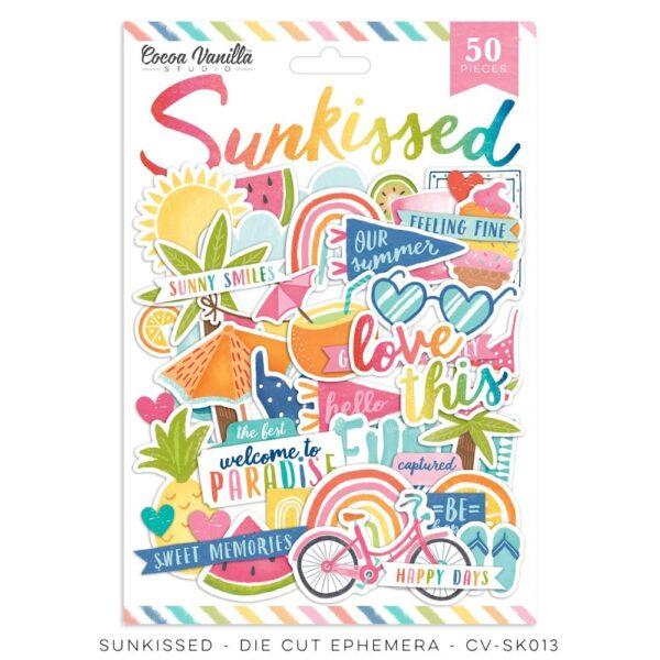 cv sk013a die cut ephemera cocoa vanilla studio sunkissed collection