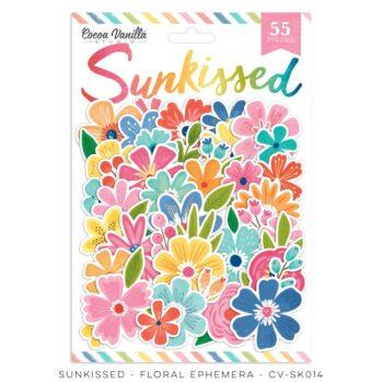 cv sk014a floral ephemera cocoa vanilla studio sunkissed collection