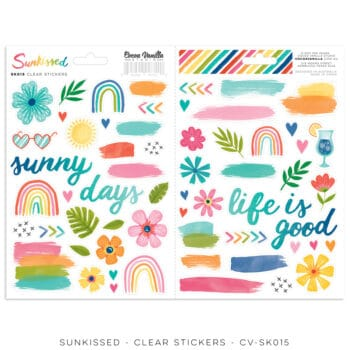 cv sk015 clear stickers cocoa vanilla studio sunkissed collection