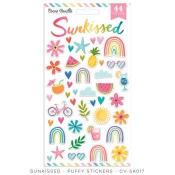 cv sk017 puffy stickers cocoa vanilla studio sunkissed collection