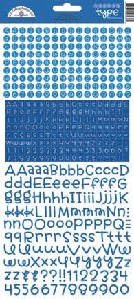doodlebug design blue jean teensy type stickers 34