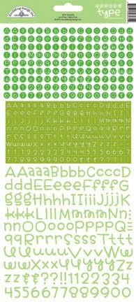 doodlebug design limeade teensy type stickers 3431