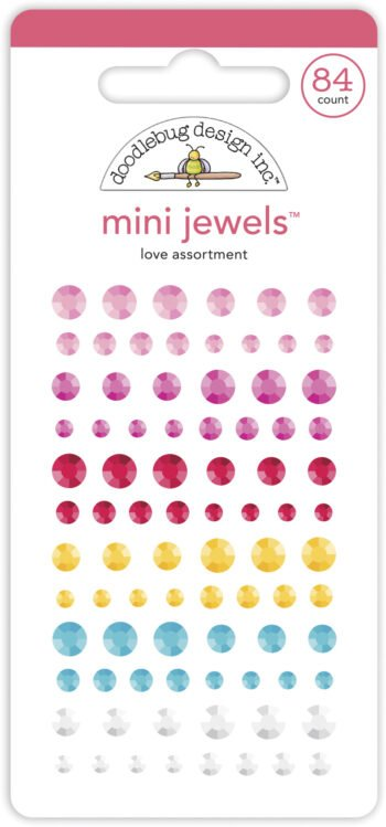 doodlebug design love assortment mini jewels 7094