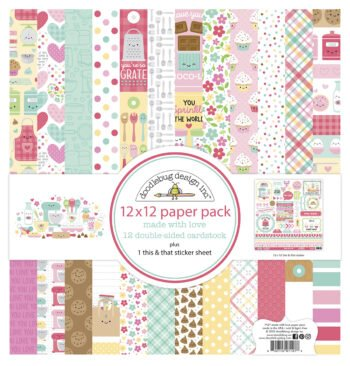 doodlebug design made with love 12x12 inch paper p