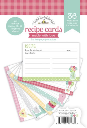 doodlebug design made with love recipe cards 7163