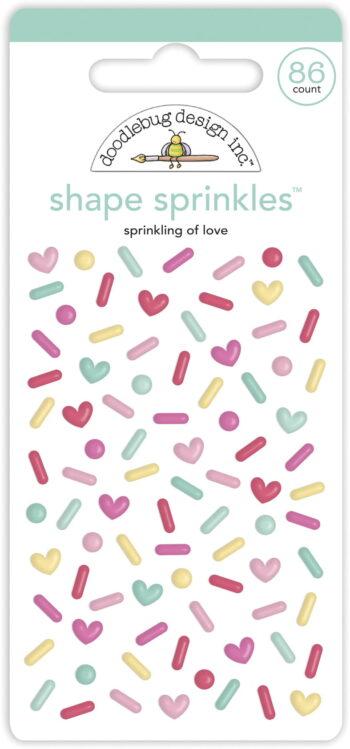 doodlebug design sprinkling of love shape sprinkle