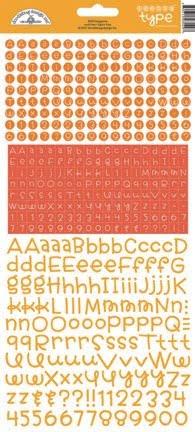 doodlebug design tangerine teensy type stickers 34