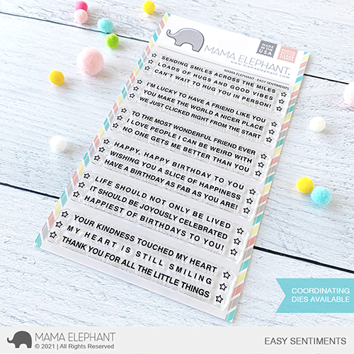 mama elephant clear stamps s easy sentiments grande