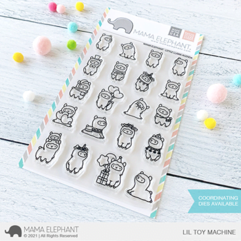 mama elephant clear stamps s little llama agenda grande
