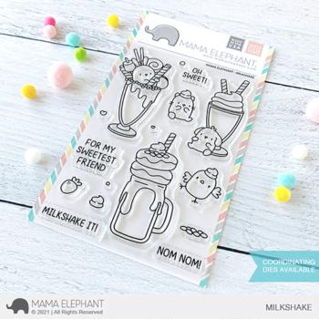 mama elephant clear stamps s milkshake grande