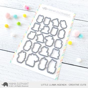 mama elephant coordinating creative cuts cc little llama agenda grande