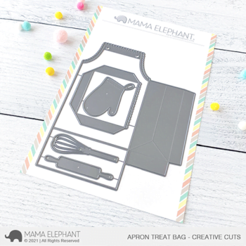 mama elephant creative cuts cc apron treat bag grande