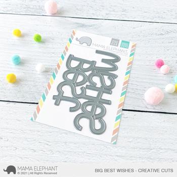 mama elephant creative cuts cc big best wishes grande