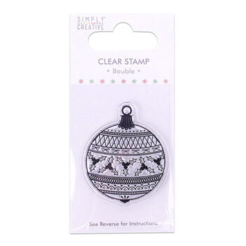 simply creative bauble clear stamp scstp015x19