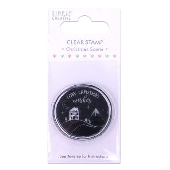 simply creative christmas scene clear stamp scstp0