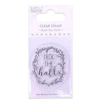 simply creative deck the halls clear stamp scstp00