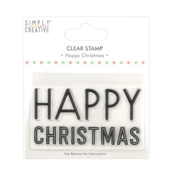 simply creative happy christmas large clear stamps