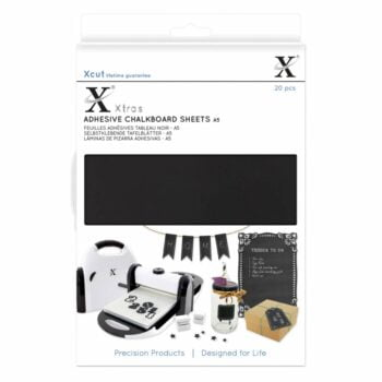 xcut xtra a5 adhesive chalkboard sheets 20pcs xcu