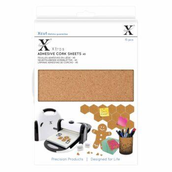 xcut xtra a5 adhesive cork sheets 15pcs xcu 174403