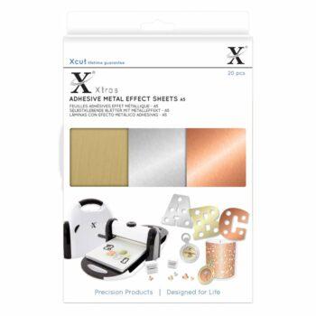xcut xtra a5 adhesive metal effect sheets 20pcs xc