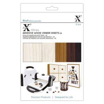 xcut xtra a5 adhesive wood veneer sheets 15pcs xcu