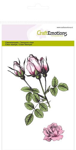 craftemotions clearstamp botanical roses bud 130501 1014