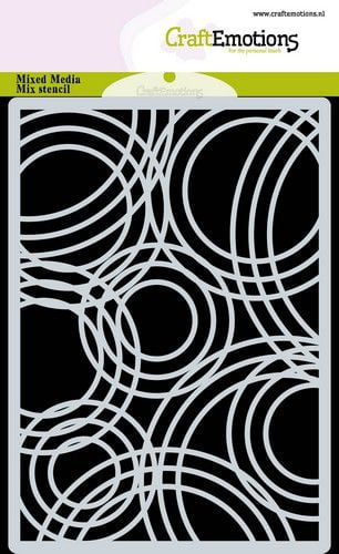 craftemotions mask stencil achtergrond triple cirkels a6 a6 09 2 317890 nl g