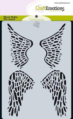 craftemotions mask stencil angel bear vleugels carla creaties 313084 nl g