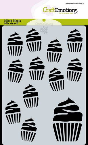 craftemotions mask stencil cupcakes a6 carla creaties 07 20 317178 nl g