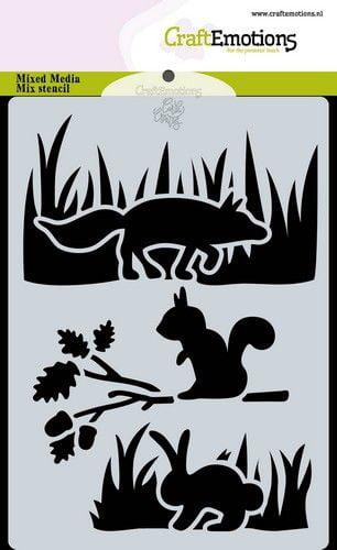 craftemotions mask stencil magic forest dieren carla creaties 314035 nl g