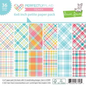 lf2491 perfectly plaid remix petite paper pack lawn fawn cardstock paper