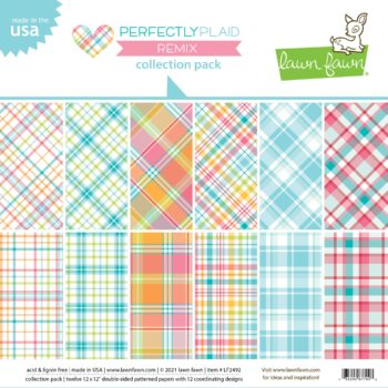 lf2492 perfectly plaid remix collection pack lawn fawn cardstock paper