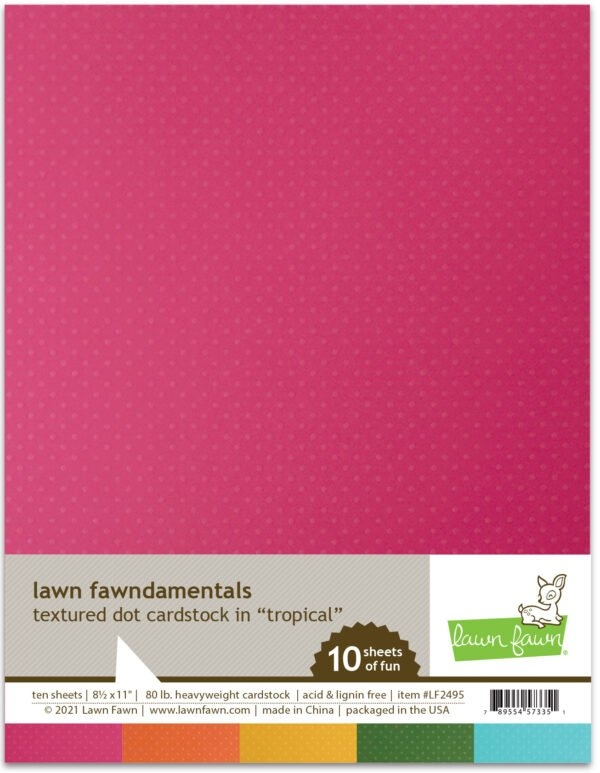 lf2495 textured dot cardstock tropical lawn fawn paper