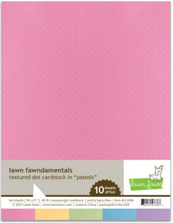 lf2496 textured dot cardstock pastels lawn fawn paper