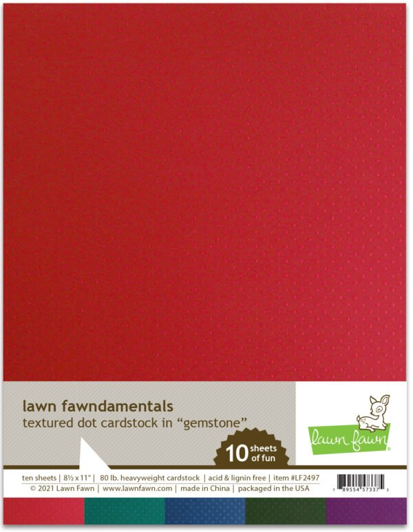 lf2497 textured dot cardstock gemstone lawn fawn paper
