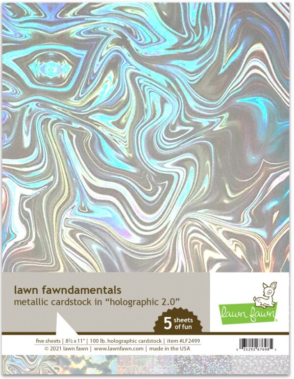 lf2499 metallic cardstock holographic 2.0 lawn fawn paper