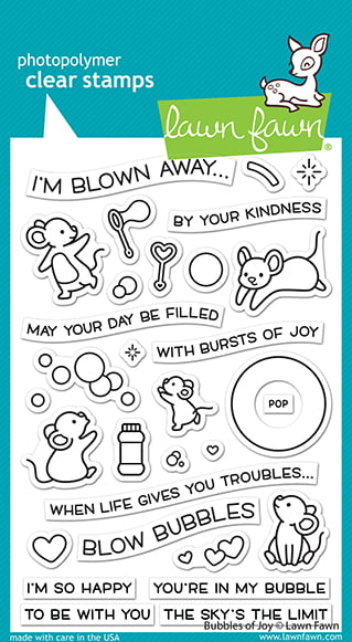 lf2500 bubbles of joy sm lawn fawn clear stamps