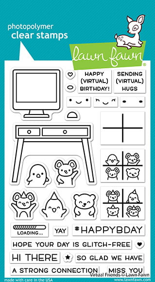 lf2504 virtual friends sm lawn fawn clear stamps