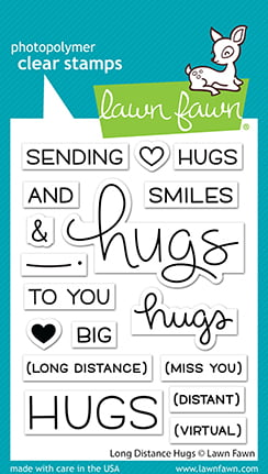 lf2510 long distance hugs sm lawn fawn clear stamps