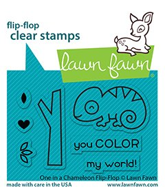 lf2512 one in a chameleon flipflop sm lawn fawn clear stamps