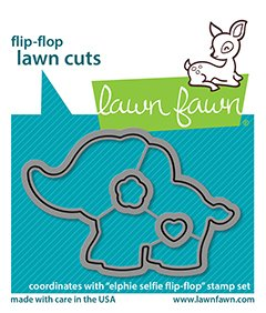 lf2515 elphie selfie flipflop lawn cuts sm coordinating lawn fawn dies