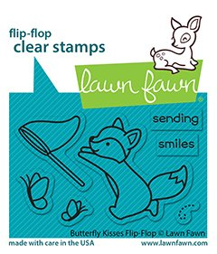 lf2516 butterfly kisses flipflop sm lawn fawn clear stamps