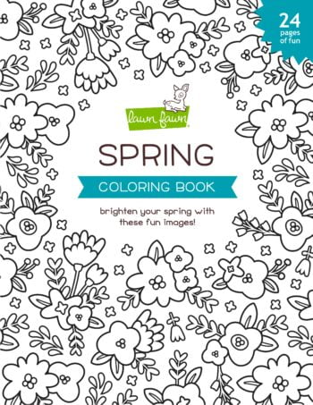lf2540 spring coloring book lawn fawn